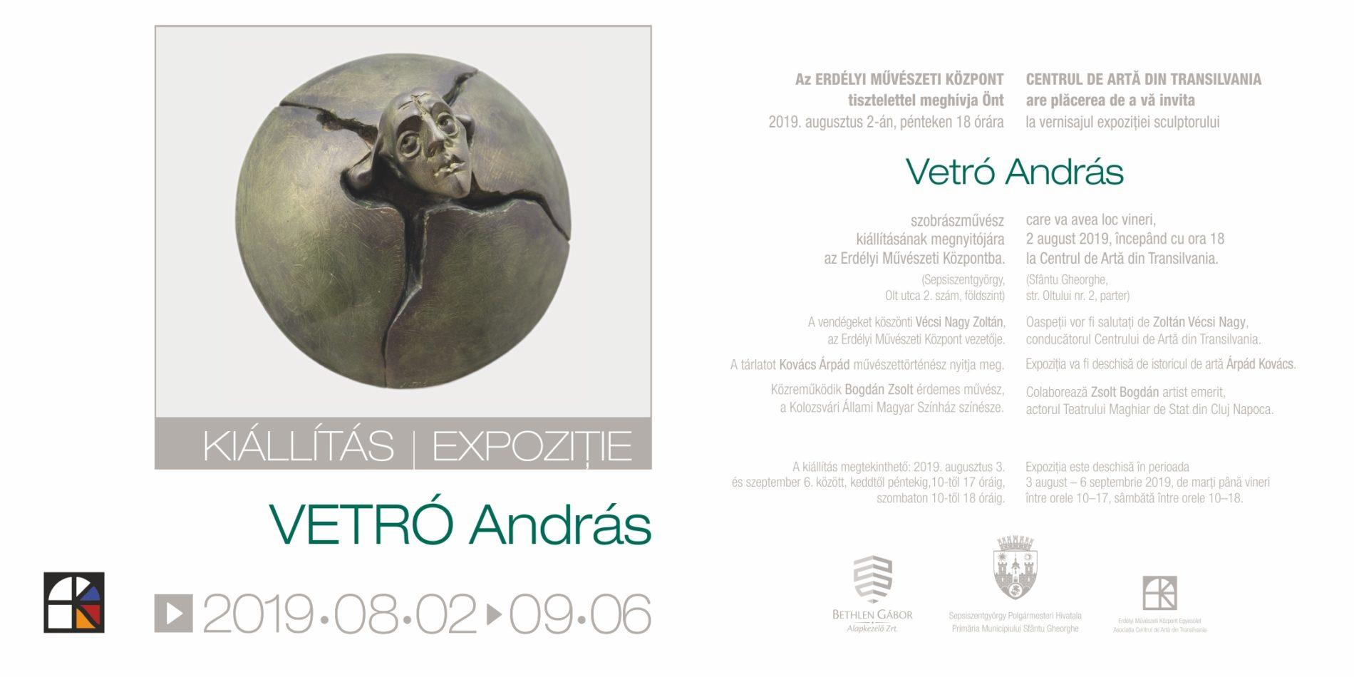 Vetró András / 2019. aug. 03. – szept. 06.